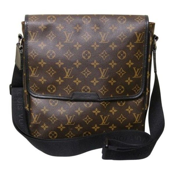 Pre-Owned Louis Vuitton Macassar Mm Messenger Bag ($1,395) ❤ liked on Polyvore featuring bags, messenger bags, brown, leather bags, brown leather messenger bag, tablet messenger bag, brown messenger bag and genuine leather messenger bag