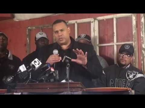 Oakland Raiders Fans Press Conference Opposing Las Vegas NFL Relocation P2