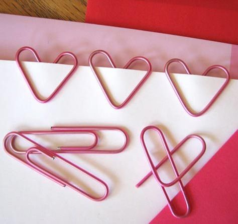 How to make an heart with a paper clips ?