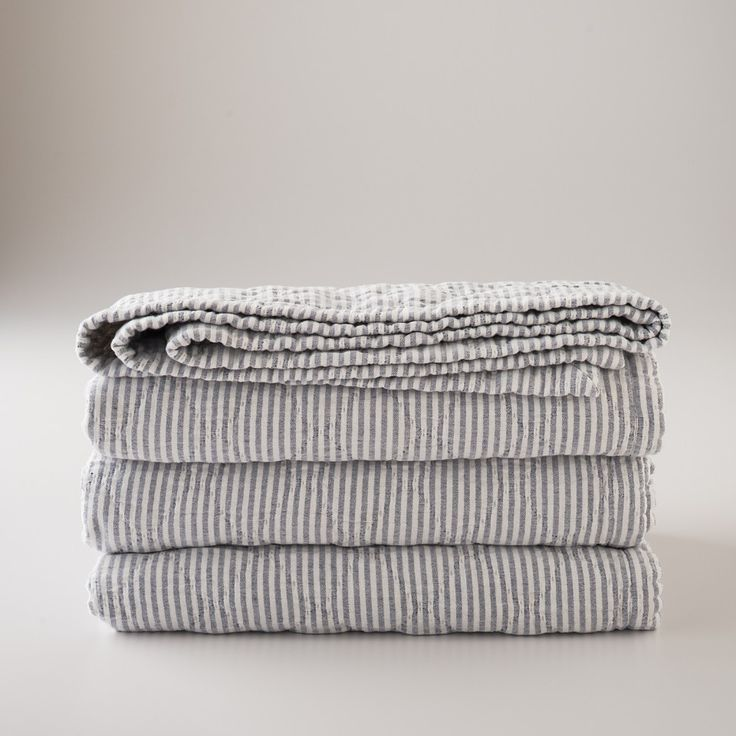 Diamond Ticking Quilt   Bed Linens   Bed + Bath
