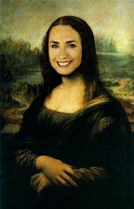 Robert A. Baron, Mona Lisas - 31: Hilary Clinton