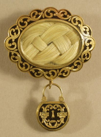 Mourning Hair Brooch - I had never seen or heard of these until I watched the show Oddities.