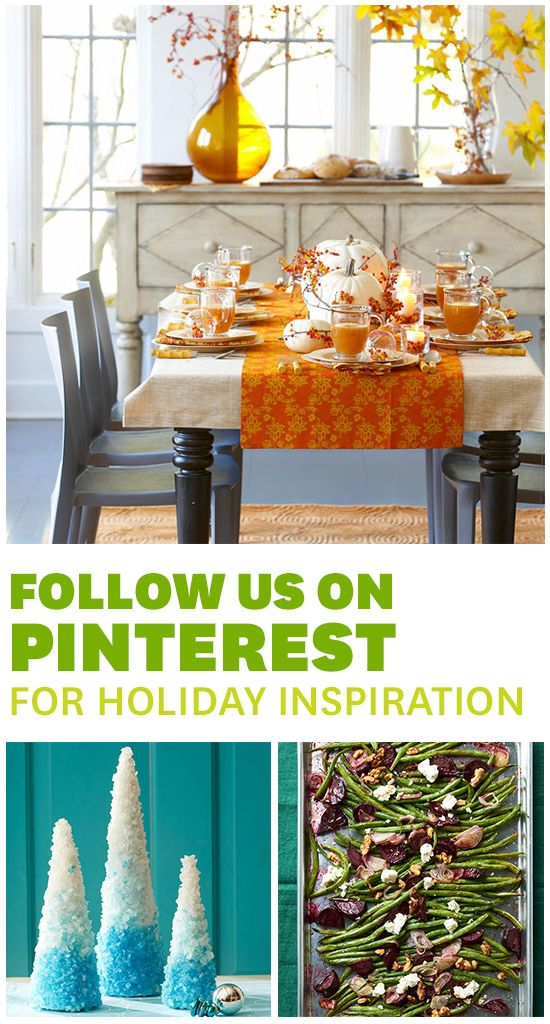 For the latest and greatest holiday ideas, follow BHG on Pinterest! Click through to follow our boards.