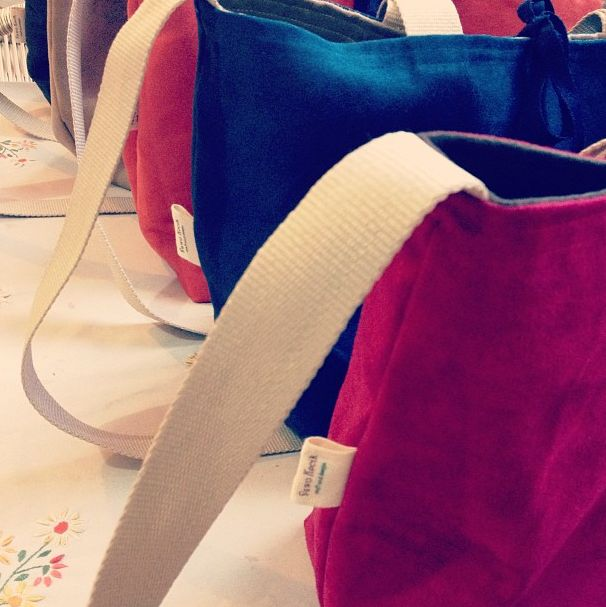 Suede Reversible Tote Bag