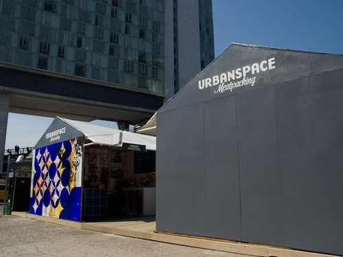 Urbanspace Meatpacking, a pop-up market under The High Line