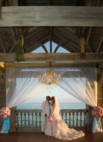 Add Elegance To An Outdoor Wedding With A Chandelier Like This Alfresco Ceremony At The Reach Dock Weddingkey West