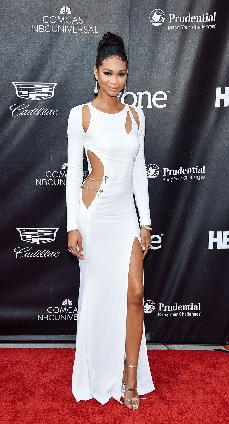 The dress is chanel - 5 Times Chanel Iman Showed Us How Dope Monochromatic Is