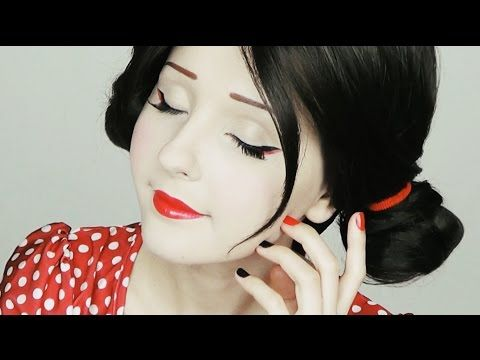 ▶ Макияж Гейши   Geisha makeup tutorial by Anastasiya Shpagina - YouTube