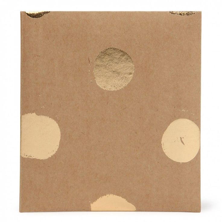 Gold spot kraft small slip-in photo album