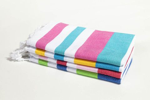 Ottoloom Ipanema Toddler Turkish Towel. Hand loomed with 100% GOTS certified organic cotton.