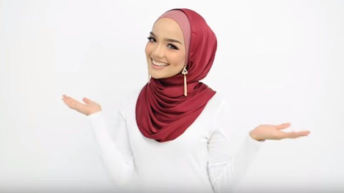 Tutorial Hijab Segi Empat Memakai Anting Gaya Hijab Anting Tutorial Hijab Pashmina