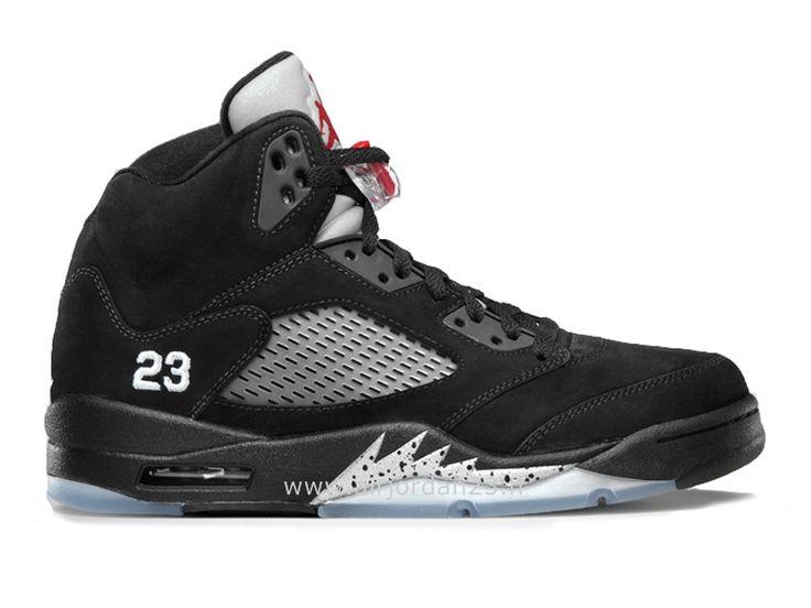 Nike Air Jordan 5 V Retro Mens Black Metallic Silver Shoes Size 13