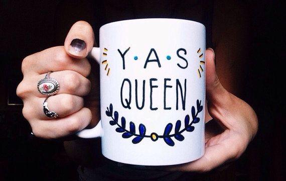 Yas Queen Broad City mug by MeganPadovanoDesign on Etsy #broadcity #etsy #mug