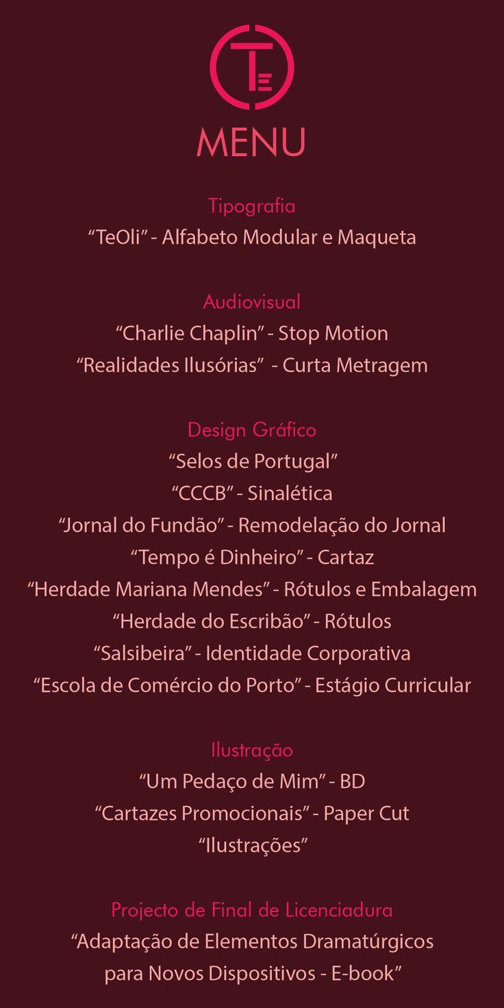 "Menu da ""Chefe"" Ana Teresa Oliveira"
