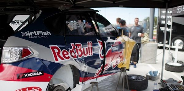 Pastrana won't be driving the new 2015 WRX STI GRC car in LA today