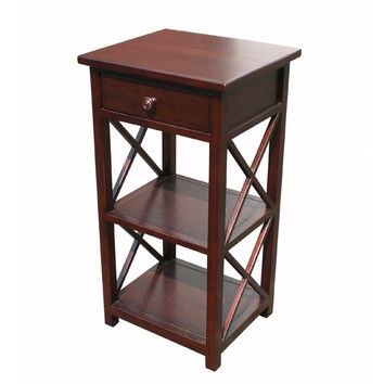 Accent Table w Drawer Magazine Rack ID 4150