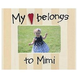 Mimi Photo Frame   My Heart Belongs to Mimi Picture Frame   Mimi Gifts