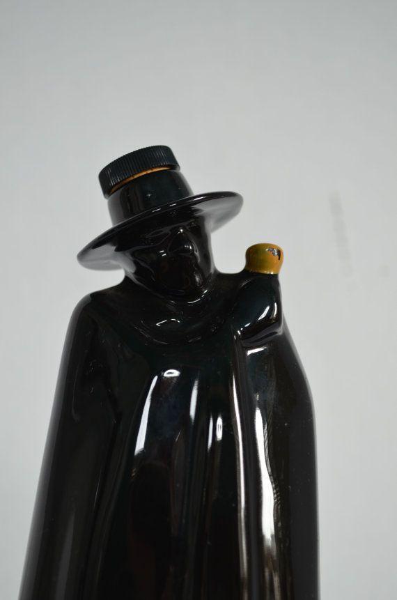 1960s Wade England Don Sandeman Black Figural Ceramic