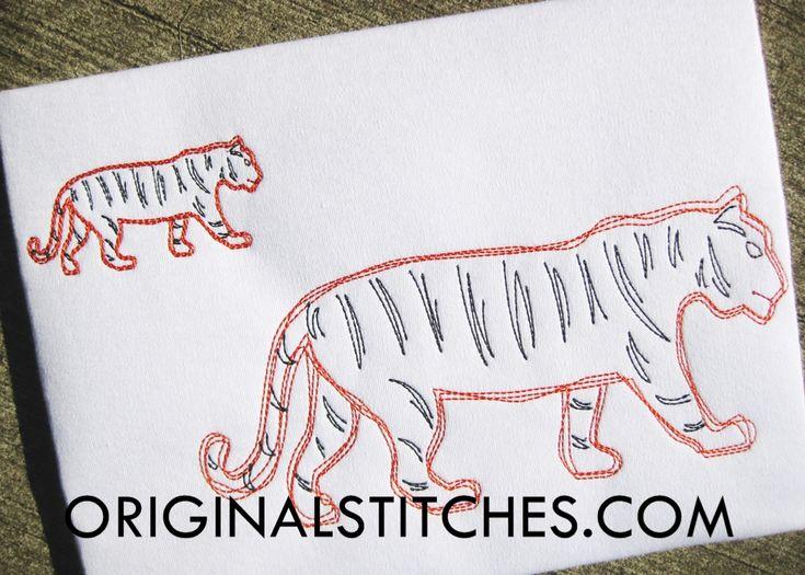 Tiger Quick Stitch Embroidery Design - Original Stitches