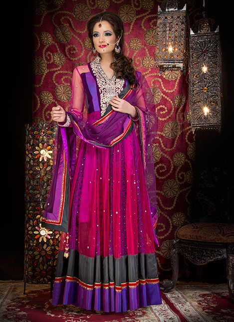 khushboos-chand-65 | Gorgeous red, pink and purple pakistani outfit, great for mehndi!