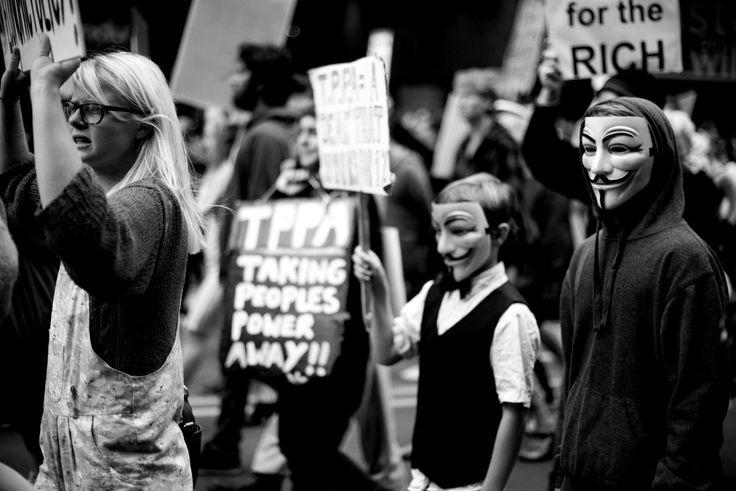 March against the T.P.P.A., Wellington (Photos: Sophi Reinholt)