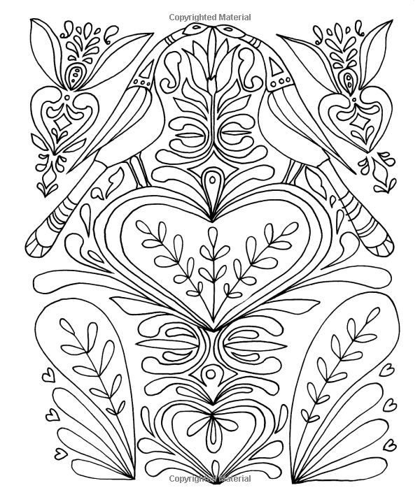 Polish folk art coloring pages coloring pages for Folk art coloring pages
