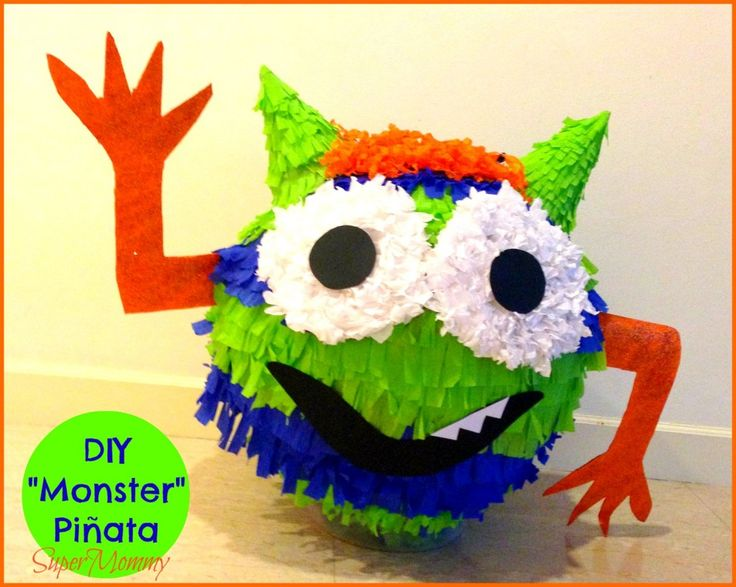 DIY - Monster Pinata for a Monster Kid's Party!