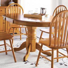 'Nostalgia II' Round Table With Leaf Extension