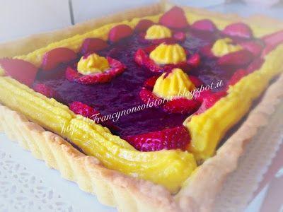Francy non solo torte: Crostata con confettura di fragole e crema pasticc...
