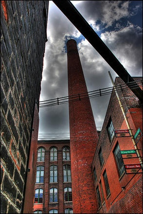 Liberty Village. Used to work on the top floor of the far building- The Old Toronto Carpet Factory. Such a nice area.