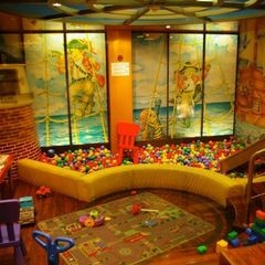 contemporary kids Basement Playroom. How fin would it be to have a ball pit??