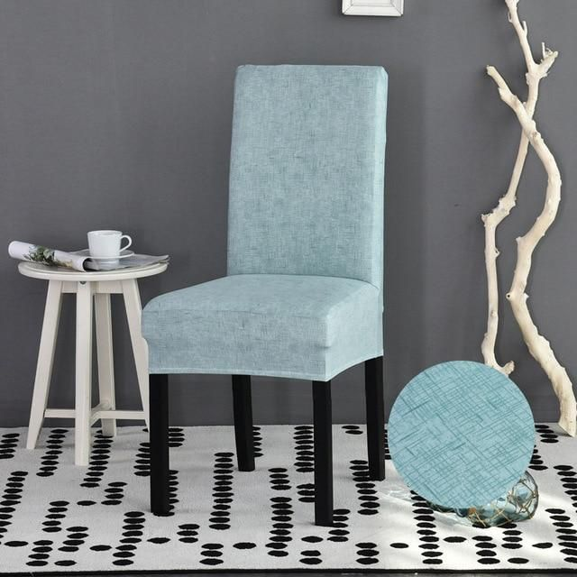 Solid Cross Texture Pattern Dining Chair Cover Products In