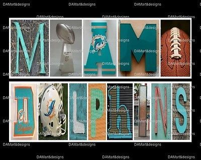 NFL Miami Dolphins Framed Alphabet Photo Art