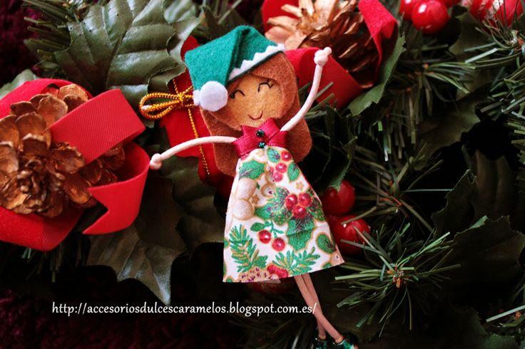 Quecas de Fieltro / Dolls felt elf mod30 http://accesoriosdulcescaramelos.blogspot.com.es/search/label/Mu%C3%B1ecas%20%28Quecas%20de%20Fieltro%29