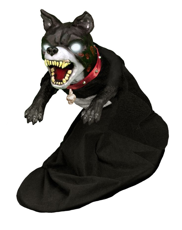 Jumping dog animated decoration spirit halloween evil for Animated halloween decoration
