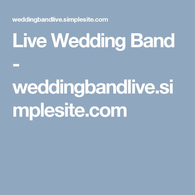 Live Wedding Band - weddingbandlive.simplesite.com