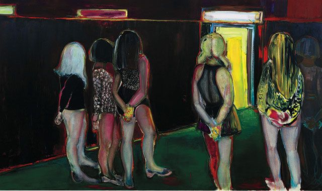 """Marlene Dumas, """"The Visitor,"""" 1995, sold for a record $6.3 million at Sotheby's London in July 2008."""