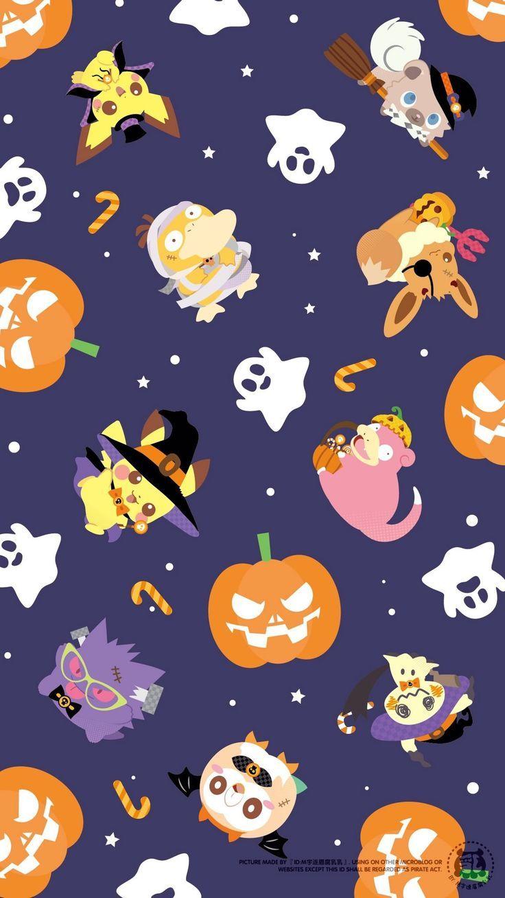 Untitled Sevimli Duvar Kagitlari Pokemon Halloween