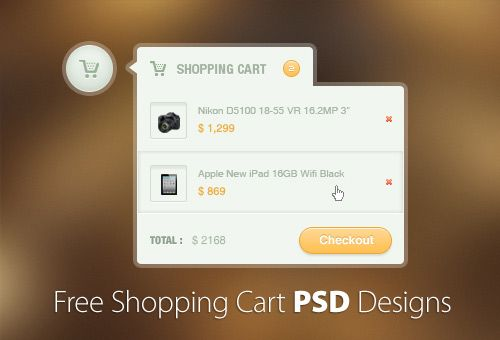 30+ Free Shopping Cart PSD Designs