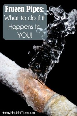 What To Do When Your Pipes Freeze