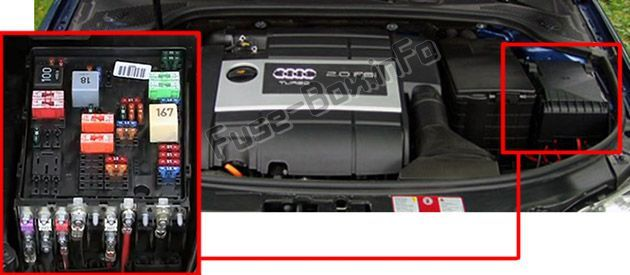 Audi A3 / S3 (8P; 2008, 2009, 2010, 2011, 2012) Fuse box location | Engine  control unit, Fuse box, Audi | Audi S3 Fuse Box Location |  | Pinterest