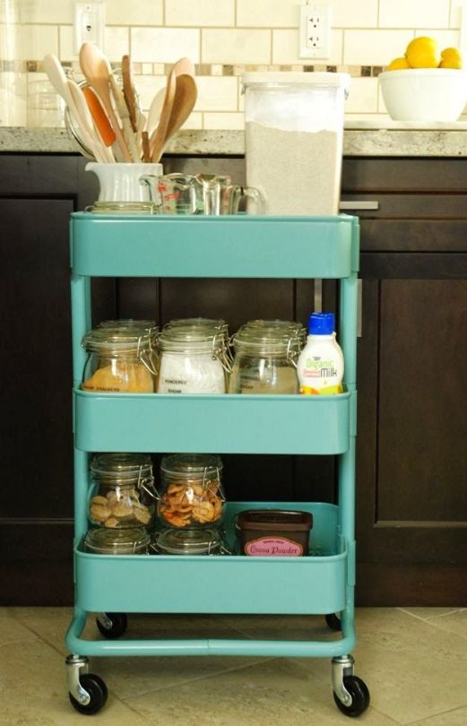 Raskog By Ikea 15 Ways This Fantastic Utility Cart Can Organize Your Small E Here Family Organization Pinterest And