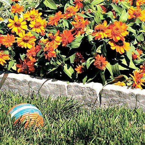 Border Stone Edging Lawn Landscape Garden Decor 4 Pack Bonus 8oz Rubber Mallet #Suncast