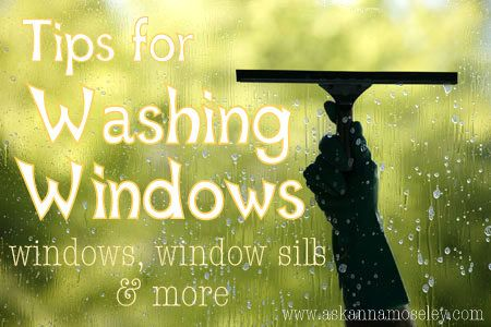 Tips for sparkling clean windows.