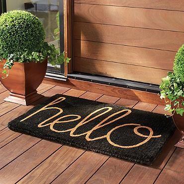 Hello Coco Door Mat - Grandin Road | Door Mats, Outdoor ...