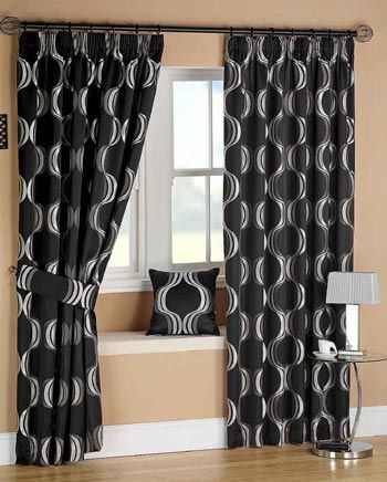 66 best morgan 39 s ideas for room images on pinterest for Black and white curtain designs