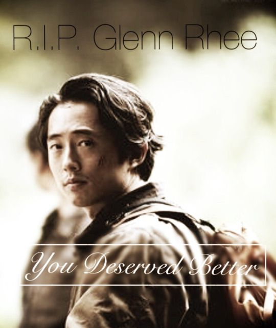 R.I.P. Glenn Rhee  Kind of had the idea it was going to be Glenn. He will sorely be missed.