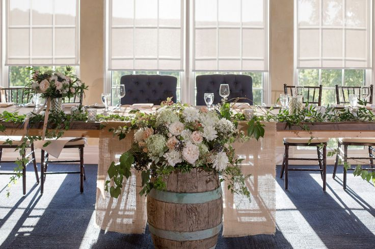 The beautiful head table setup in the Windows On The Twenty room #TwentyValley