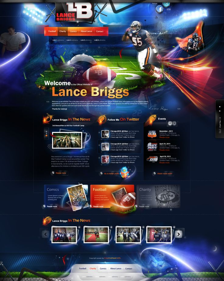 Lance Briggs website by webdesigner1921.deviantart.com on @deviantART