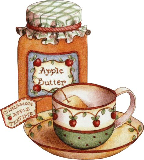 APPLE BUTTER DECOUPAGE